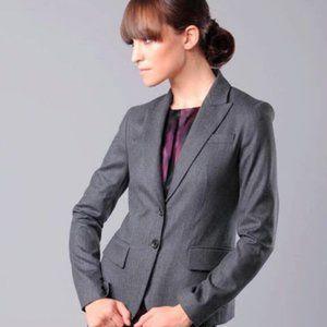 Theory Nettie Classic Grey Wool Blazer